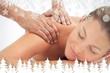 Serene woman enjoying a massage