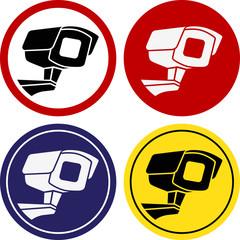 Round sticker video surveillance