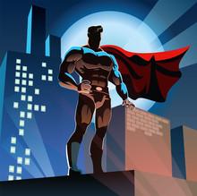 Super héros dans la ville