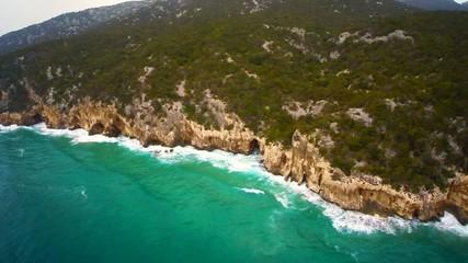 mediterranean coast aerial