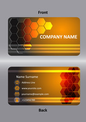 abstract  business orang card template