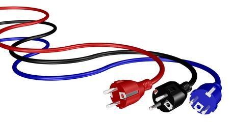 Stromkabel mit Steckern