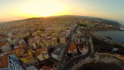Italy,Sardinia,Alghero aerial