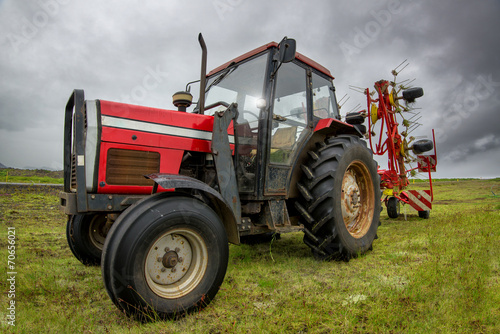 canvas print picture Tractor