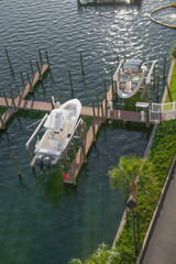 private dock for yachts