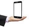 empty smartphone businessman