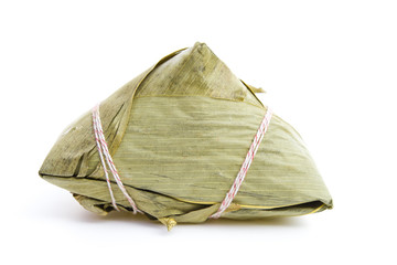 Chinese ZongZi on white for Dragon Boat Festival, DuanWu