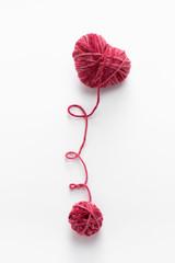 Heart shaped woolen yarn