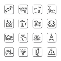 Construction Doodle Icons