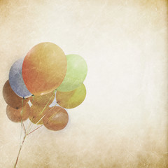 Balloon grunge background