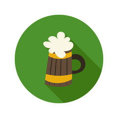 Oktoberfest beer mug circle green icon