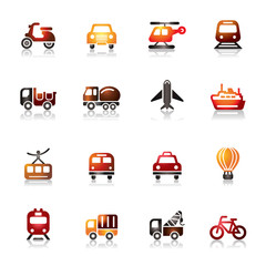 Transportation Colorful Icons