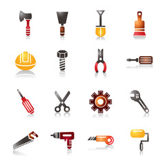 Construction Tools Colorful Icons