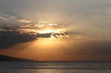sunrise over the Black Sea coast of Bulgaria