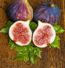 fig on a wooden background