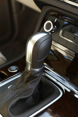 Closeup of automatic transmission