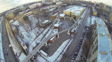 The final station of the Moscow monorail transport system