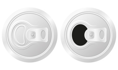 closed and open can of beer vector illustration