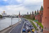 Moscow, Russia. View of the Kremlin and Kremlevskaya Embankment