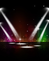 Disco Music Stage Spotlights