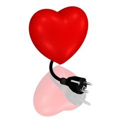 Herz mit Stecker, Energie fürs Herz tanken