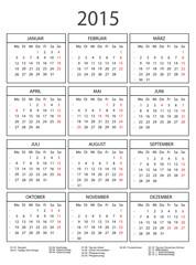 Kalender 2015 mit Rahmen schwarz/weiss