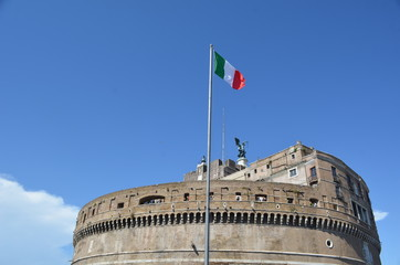 Top of castel sant angelo in rome, italy