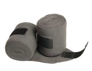 horse new  grey knitwear bandages isolated on white