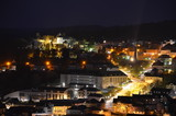 Night view over Wiltz, Luxembourg.
