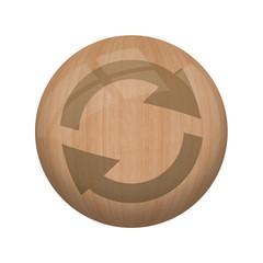 Bouton en bois sans ombre : recyclable