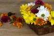canvas print picture - Herbstlicher Blumenstrauß