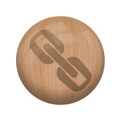 Bouton en bois sans ombre : lien