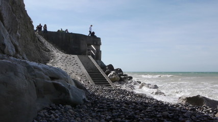 A bunker at the sea near Calais, France