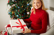 Female holding gift