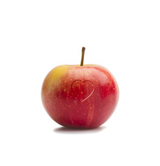 Red  Apple Small Heart