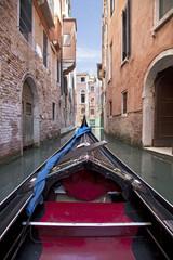 Gondola in the streets of Venice, Italy