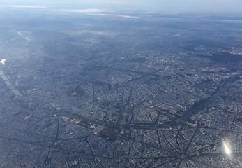 Vue aérienne de la ville de Paris