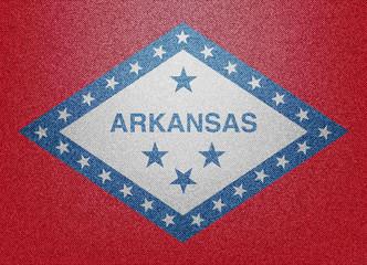 Arkansas denim flag