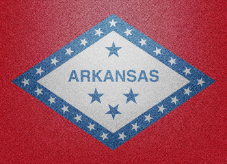 Arkansas denim flag