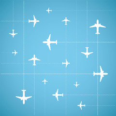 Vector flat style air travel background