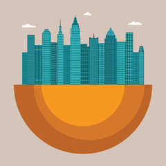 Cityscape vector illustration concept