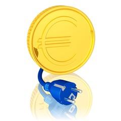 Euro mit Stecker