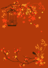 autumn garden background