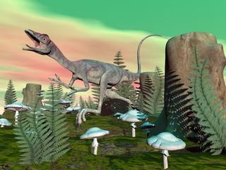 Compsognathus dinosaur - 3D render
