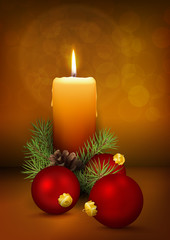 Weihnachtskarte, Kerzenschein, Kerze, Christmas, Vector, xmas