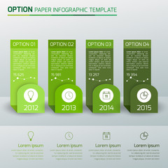 One,two,three,four - option business infographic,light