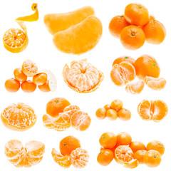 Fresh Mandarin Citrus Isolated Tangerine Mandarine Orange In Hea