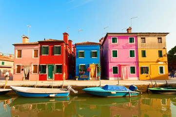 Colorful Burano, near Venice, Italy