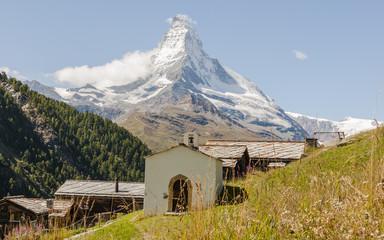 Zermatt, Schweizer Berge, Findeln, Weiler, Alpenwiesen, Sommer