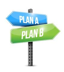 plan a plan b sign illustration design